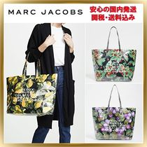 MARC JACOBS Flower Patterns Casual Style A4 Totes