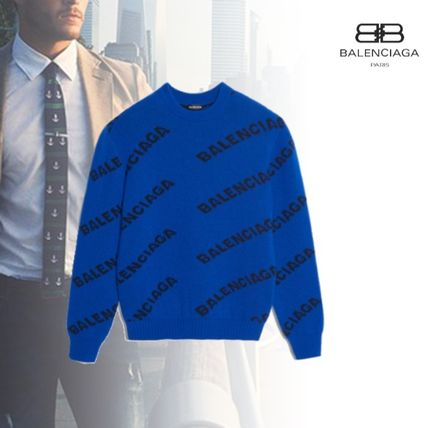 88cebcd0a5 ... BALENCIAGA Knits   Sweaters Crew Neck Pullovers Wool Long Sleeves Knits  ...