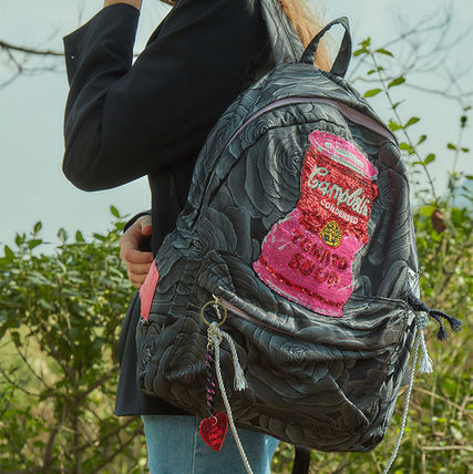 Flower Patterns Casual Style A4 Backpacks