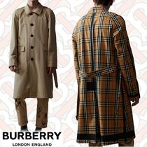 Burberry Other Check Patterns Plain Long Trench Coats