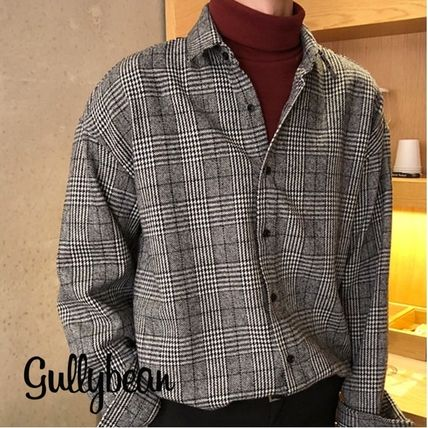 Shirts Other Check Patterns Street Style Long Sleeves Shirts