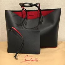 Christian Louboutin Studded Bag in Bag A4 Plain Leather Totes