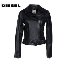 DIESEL Casual Style Street Style Plain Leather Biker Jackets