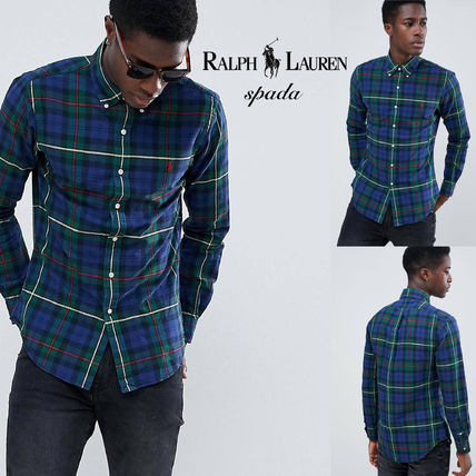 POLO RALPH LAUREN Shirts Button-down Other Check Patterns Street Style Long Sleeves