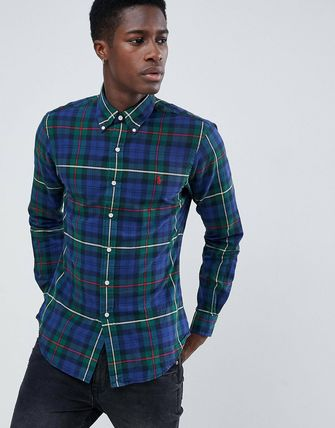 POLO RALPH LAUREN Shirts Button-down Other Check Patterns Street Style Long Sleeves 2