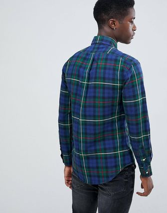 POLO RALPH LAUREN Shirts Button-down Other Check Patterns Street Style Long Sleeves 4