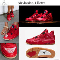 Nike AIR JORDAN 4 Street Style Low-Top Sneakers
