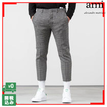 AMI ALEXANDRE MATTIUSSI Other Check Patterns Wool Cropped Pants