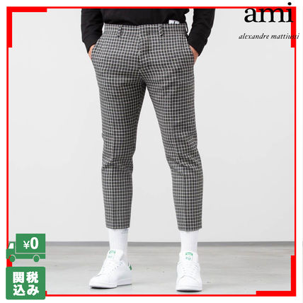 Other Check Patterns Wool Cropped Pants