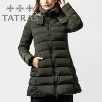 TATRAS POLITEAMA Plain Long Khaki Down Jackets