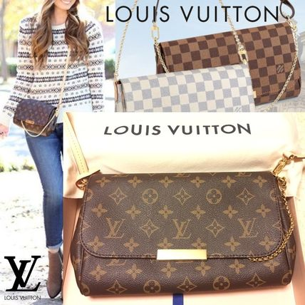 ad059f18698e ... Louis Vuitton Shoulder Bags Louis Vuitton FAVORITE MM Monogram 3WAY  Chain M40718 ...