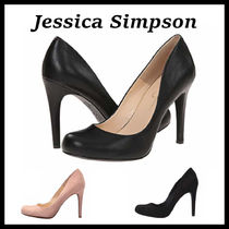 Jessica Simpson Round Toe Suede Plain Pin Heels Office Style