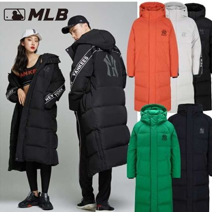 Unisex Street Style Collaboration Long Down Jackets