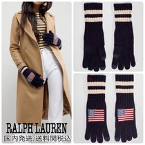 Ralph Lauren Stripes Wool Smartphone Use Gloves