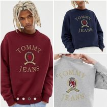 Tommy Hilfiger Crew Neck Sweat Street Style Long Sleeves Plain Sweatshirts