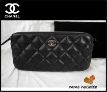 CHANEL Calfskin 2WAY Elegant Style Shoulder Bags