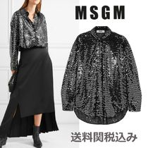 MSGM Blended Fabrics Long Sleeves Medium With Jewels