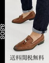 ASOS Wing Tip Loafers Tassel Leather Loafers & Slip-ons