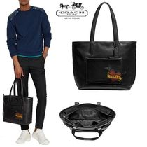 Coach Plain Leather Totes