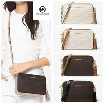 Michael Kors GINNY Casual Style Canvas Tassel Chain Shoulder Bags
