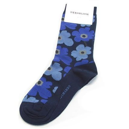 Flower Patterns Cotton Socks & Tights