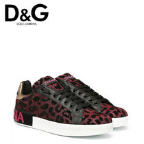 Dolce & Gabbana Rubber Sole Casual Style Other Animal Patterns Shoes