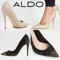 ALDO Blended Fabrics Plain Pin Heels With Jewels Elegant Style