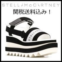 Stella McCartney ELYSE Open Toe Casual Style Bi-color Platform & Wedge Sandals