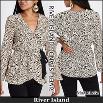 River Island Leopard Patterns Casual Style Long Sleeves Long