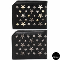 Jimmy Choo Star Unisex Studded Street Style Leather Folding Wallets