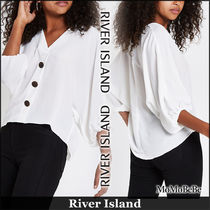 River Island Casual Style V-Neck Cropped Plain Medium Shirts & Blouses