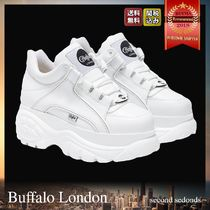 Buffalo LONDON Platform Casual Style Street Style Plain Leather