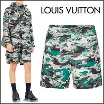 Louis Vuitton Printed Pants Street Style Bi-color Shorts