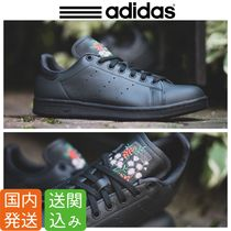 adidas STAN SMITH Flower Patterns Unisex Street Style Sneakers