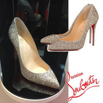 Christian Louboutin Pigalle Follies Plain Pin Heels Elegant Style Pointed Toe Pumps & Mules