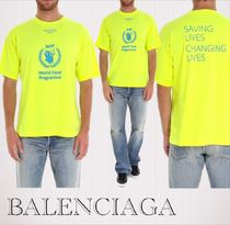 BALENCIAGA Pullovers Cotton Short Sleeves T-Shirts