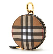 Burberry Gingham Leather Long Wallet  Coin Cases