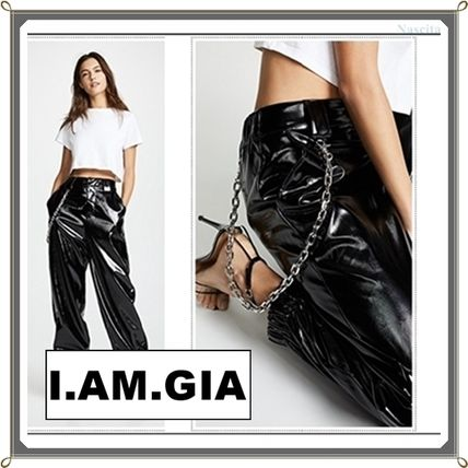 Casual Style Street Style Chain Plain Pants