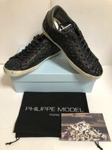PHILIPPE MODEL PARIS Camouflage Street Style Leather Sneakers