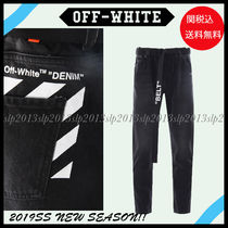 Off-White Unisex Blended Fabrics Cotton Jeans & Denim