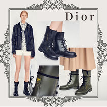Christian Dior Round Toe Casual Style Plain Ankle & Booties Boots