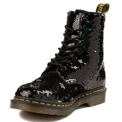 Dr Martens Lace-up Lace-up Casual Style Unisex Street Style Plain Lace-up Boots 4