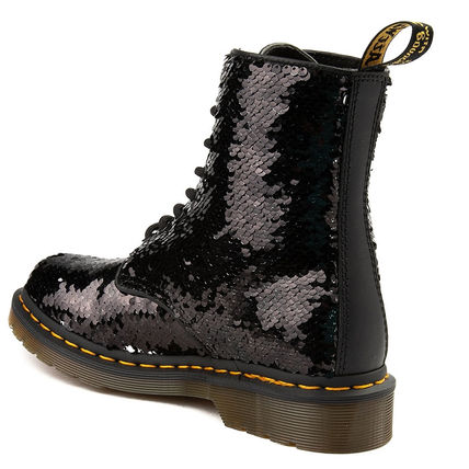 Dr Martens Lace-up Lace-up Casual Style Unisex Street Style Plain Lace-up Boots 5