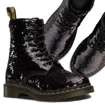 Dr Martens 1460 Lace-up Casual Style Unisex Street Style Plain Lace-up Boots