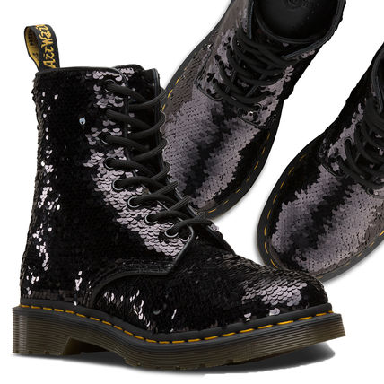 Dr Martens Lace-up Lace-up Casual Style Unisex Street Style Plain Lace-up Boots