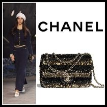 CHANEL Chain Plain Elegant Style Handbags
