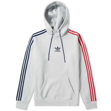 adidas Hoodies Pullovers Stripes Long Sleeves Cotton Hoodies 2