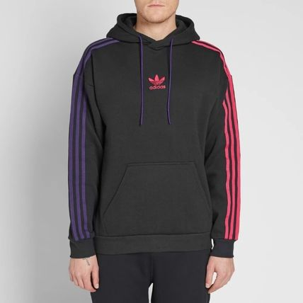 adidas Hoodies Pullovers Stripes Long Sleeves Cotton Hoodies 5