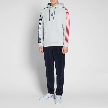 adidas Hoodies Pullovers Stripes Long Sleeves Cotton Hoodies 9
