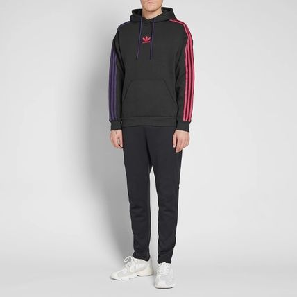 adidas Hoodies Pullovers Stripes Long Sleeves Cotton Hoodies 13